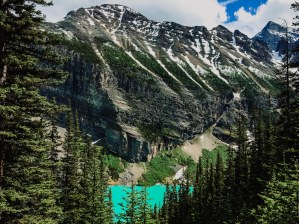 view of Lake Louise from the trail